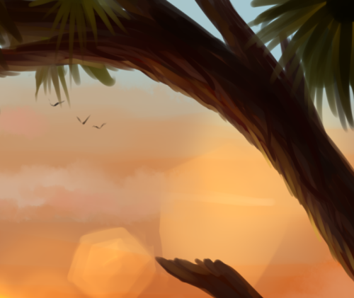 I felt like showing off this tiny chunk of a tree I spent the last part of this evening/morning detailing. Detail which will PROBABLY be lost in the final product… Oh well.