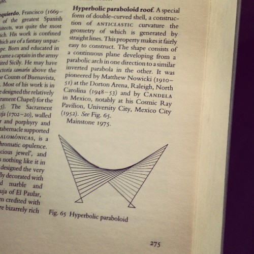 -hyperbolic paraboloid roof-   (and the immediate reference in Mexico)