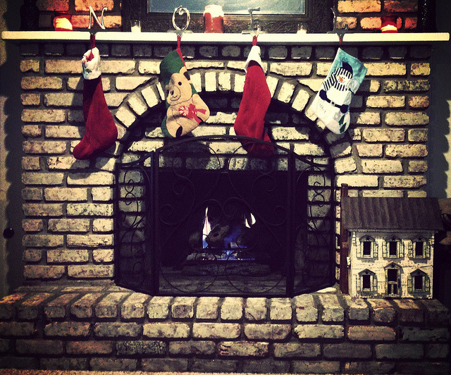 Just a fire under the stockings on Flickr.