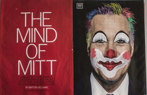 More campaign leftovers… Mitt The Clown