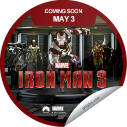 I just unlocked the Marvel's Iron Man 3 Coming Soon sticker on GetGlue                      17278 others have also unlocked the Marvel's Iron Man 3 Coming Soon sticker on GetGlue.com                  Tony Stark faces his toughest challenge yet. Will he be able to withstand the Mandarin? Find out. Iron Man 3 opens in theaters on 5/3.  Share this one proudly. It's from our friends at Disney.