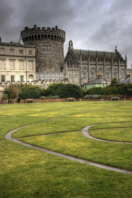 Dublin Castle by Wojtek Gurak on Flickr.[Image: A long view of Dublin Castle, looking glorious and moody.]