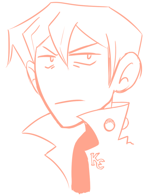 ziggbot:  an old sketch of Kaiba turned into Shachou idk what happened GIFTS FOR FRIENDS