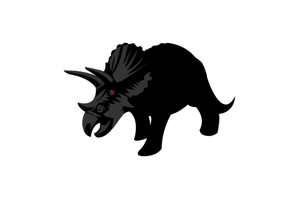 Triceratops logo done for a client. Designed by Jeremy Biggers.
