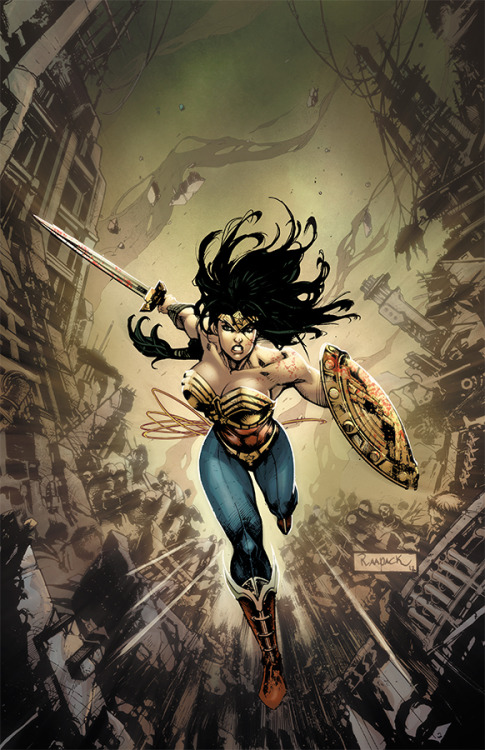 Wonder Woman: Gods Among Us // artwork by Jheremy Raapack (2013) Cover art for Injustice: Gods Among Us #3.