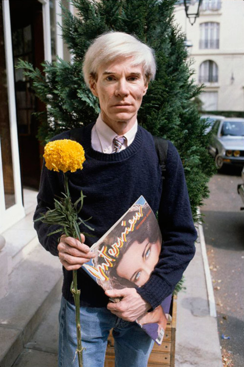 Andy Warhol with Marigold