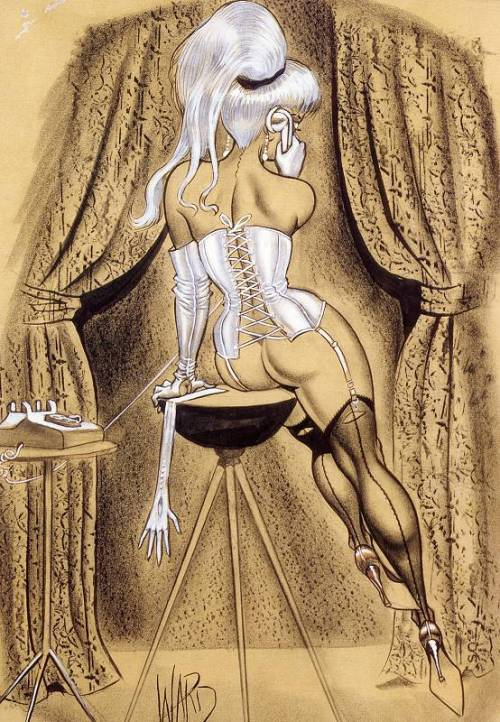 darkangelbloom:  Bill Ward (1919 - 1998) - the best of the classic pin-up artists.American cartoonist best known as one of the most widely published good girl artists
