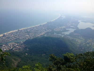bailedelospobres:  Barra de Tijuca view!  I hiked a bit around Tijuca but never got that high! There is no city more beautiful than Rio.