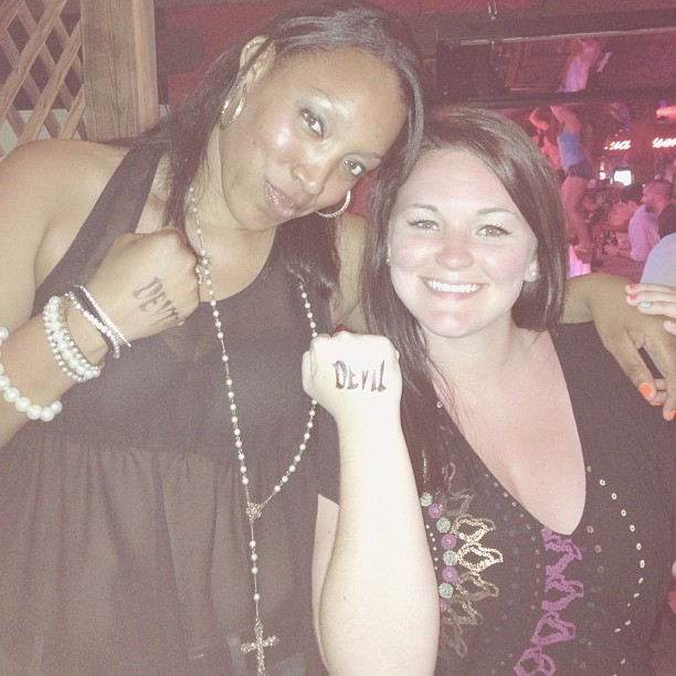 Me and my ride or die @adrianleighmo #dacrewpcb2013  (at Coyote Ugly's)