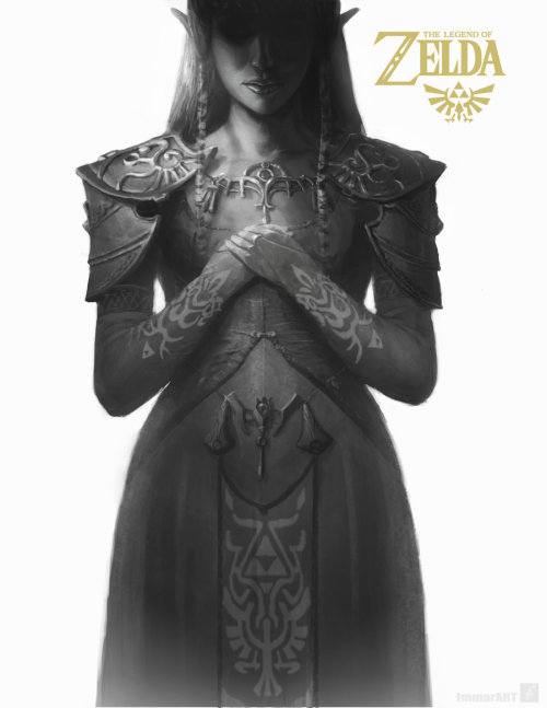 hero-of-hyrule-and-time:  princess Zelda by *ImmarArt