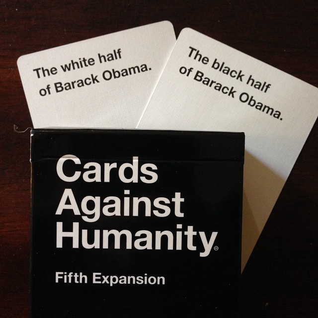 The first 2 cards I saw of the new expansion. #cardsagainsthumanity #cah #obama