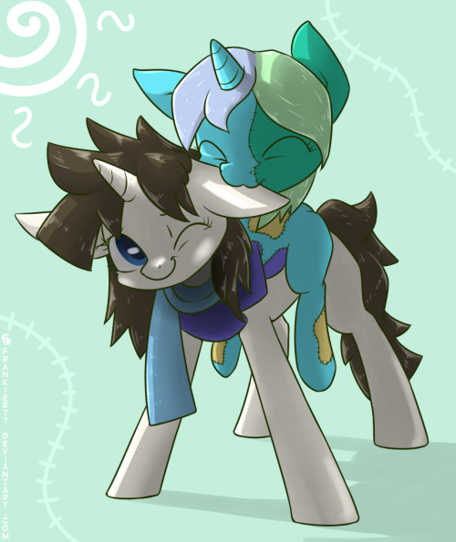 Stitchy Hug (dA link) Requested by Patchwork/Vinyl of CiM