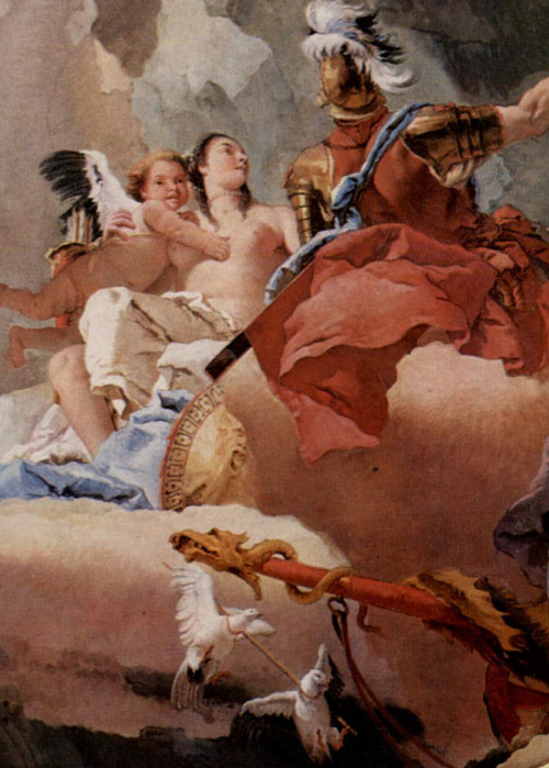 eaus:  Detail of Apotheosis of Spain by Giovanni Tiepolo