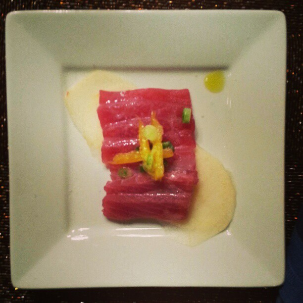 Tuna crudo with apple. #food #fancy #homemade