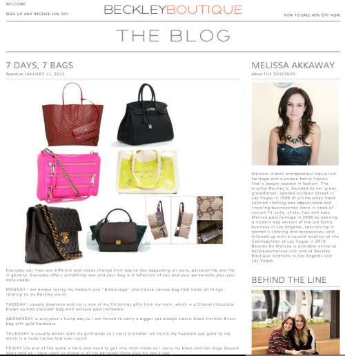 The Blog @BeckleyBoutique featured our Moto Together in acid yellow as their go-to Monday bag on the 7 Days, 7 Bags post!  Get yours while it's on sale for a limited time only at www.thufri.com.