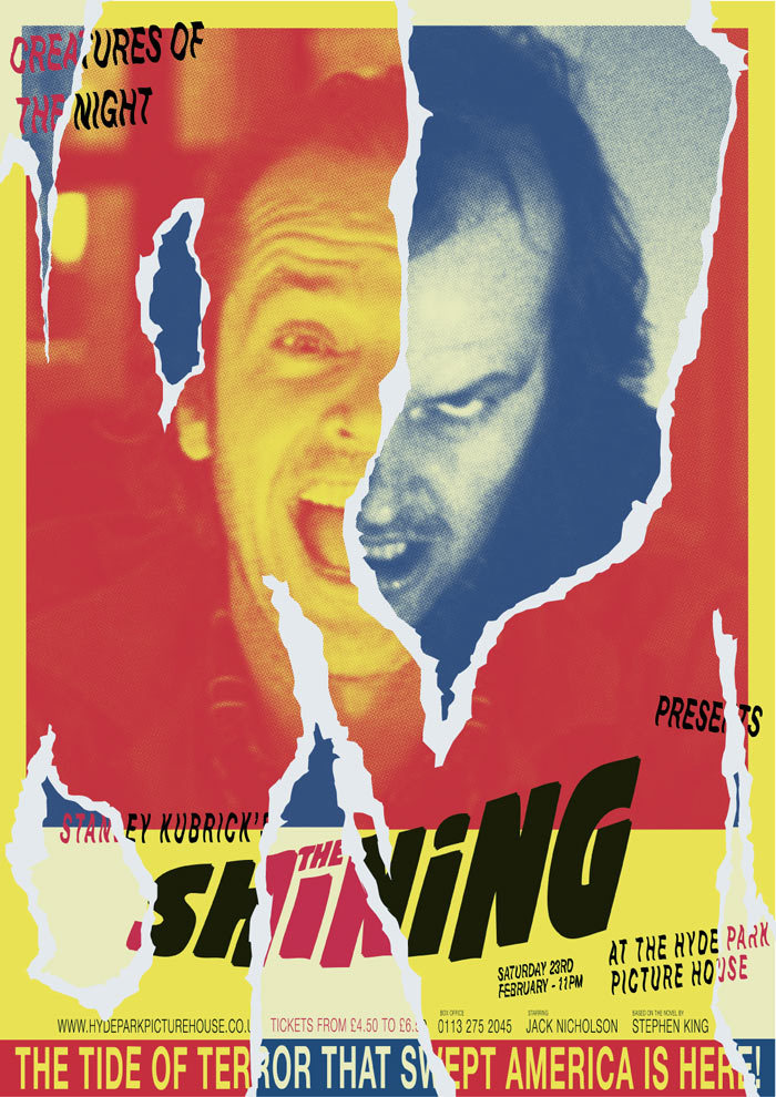 THE SHINING Hyde Park Picture House. 23/02/13 x 11PM Poster by Abbas Mushtaq
