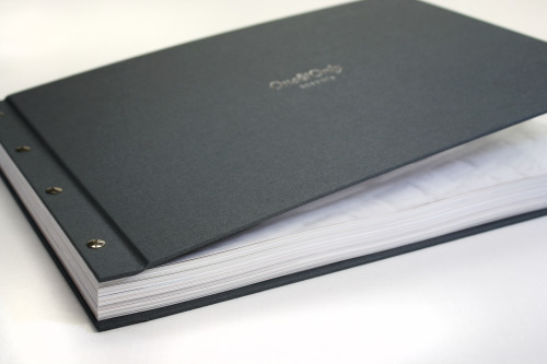 One&Only Resorts book in our exposed screw binding cover. Get yours here.. http://www.rsbookbinders.co.uk/product/buckram-cloth-exposed-screw-binding-covers/