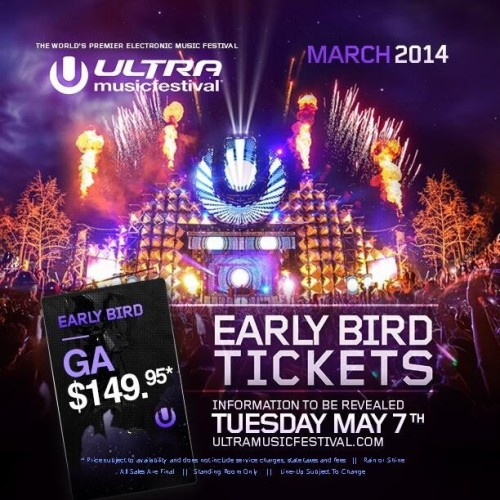 FINALLY! @ultramusicfestival Has Made their Annoucement! OMG EARLY BIRD TICKETS! Information will be released May 7th! Can't Wait for next year! 😍🙌✈🌴☀👙🎉🔊 #ULTRA2014 #MIAMI #CANTWAIT #UMF