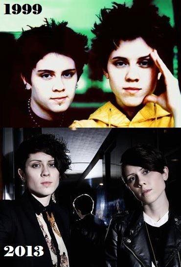 imstrangeandlikeable:  Tegan and Sara from 1999 and 2013
