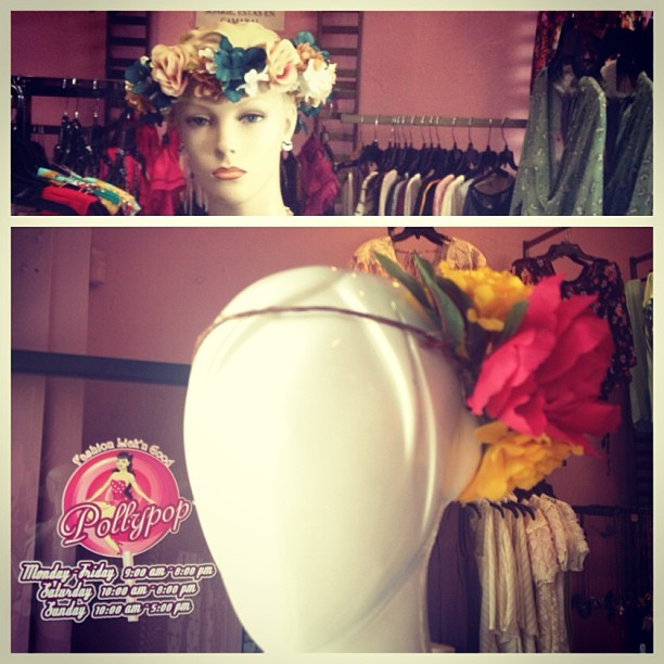 Beyond Dalliance #FloralHeadbands now available at @pollypopboutique in #Montebello.  Visit their boutique to purchase your #floralcrown. #BeyondDalliance🌸🌺👑💐🌹