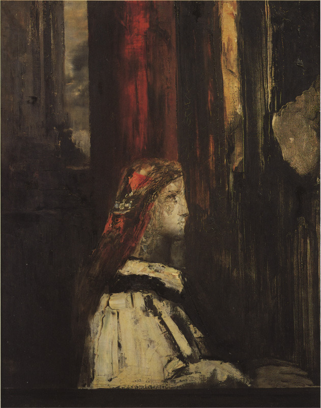 poboh:  St. Cecilia, ca 1885, Gustave Moreau. French Symbolist Painter (1826 - 1898)