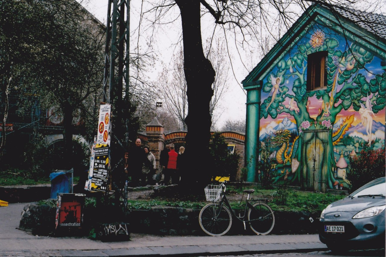 backpacksnapshot:  Christiania, Copenhagen. This is the entrance to the free town Christiania in Christianhavn, Copenhagen. It's hippy paradise.