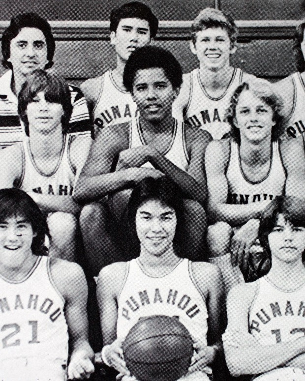 thetickr:  thekhooll:  Barack Obama's basketball team - 1977  Balling Obama