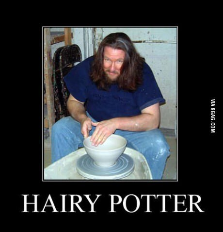 9gag:  I love hairy potter!