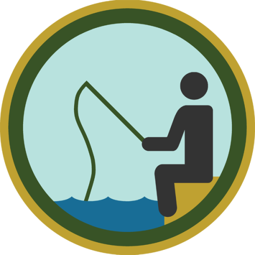 lifescouts:  Lifescouts: Fishing Badge If you have this badge, reblog it and share your story! Look through the notes to read other people's stories. Click here to buy this badge physically (ships worldwide). Lifescouts is a badge-collecting community of people who share real-world experiences online.  I fished. I was bad at it. We got McDonalds instead.