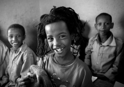 Black And White Photo Of Rasta Kids With Toothy Smile In Shashemene Jamaican School, Oromia Region, Ethiopia by Eric Lafforgue on Flickr.