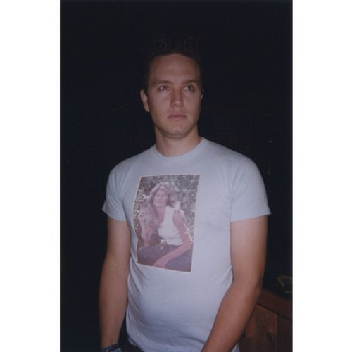 markhoppus:  Playgirlin' in a Farrah Fawcett t-shirt. Circa 2000.