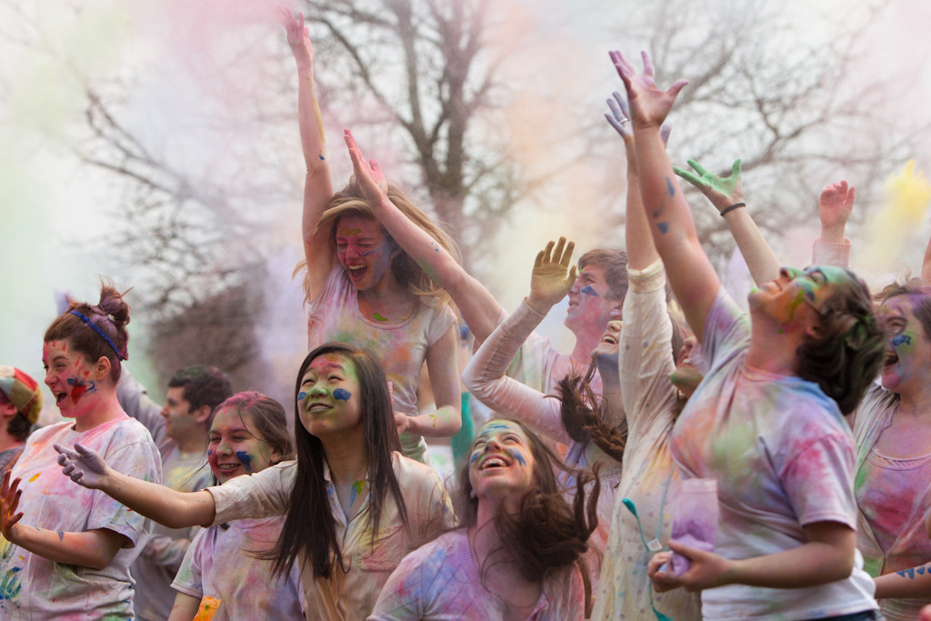 Today I went to the Festival of Colors.