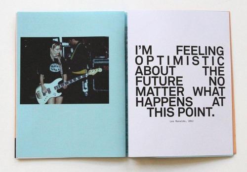 From Kim Gordon's issue of Mono.Kultur, Spring 2013