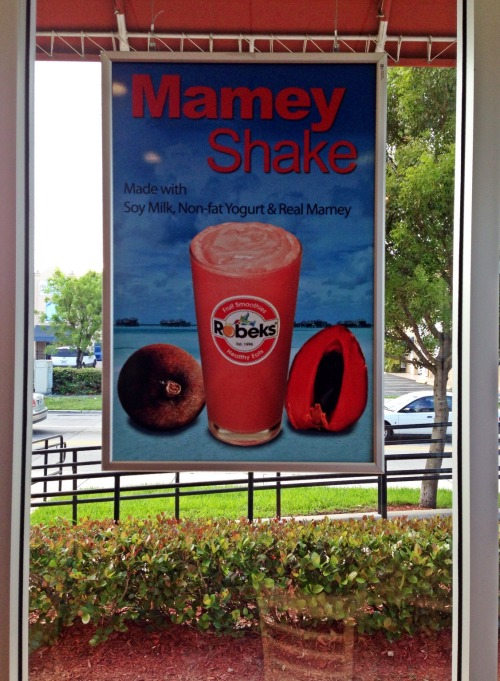 Downing a Mamey at @Robeks at Robeks – View on Path.