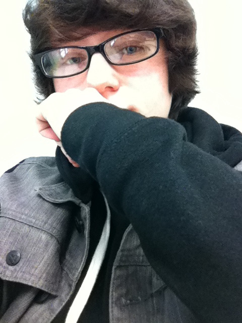 In the back corner of class.  I'm not sure why I took this.