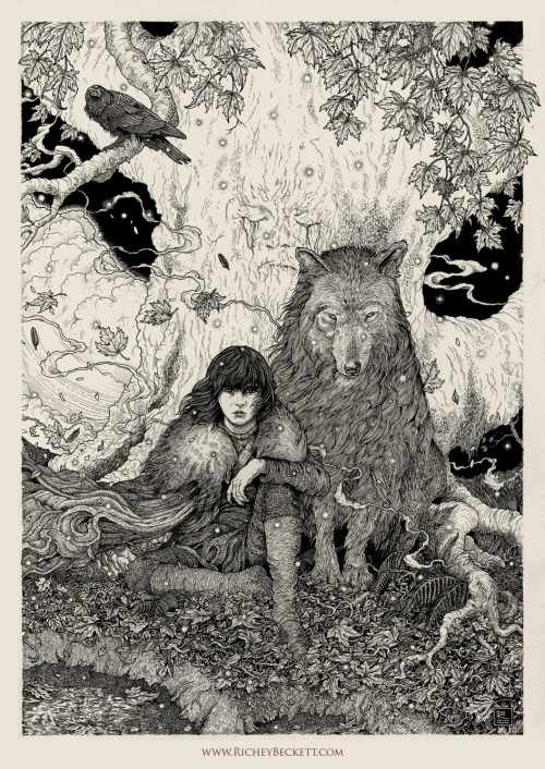 """Bran Stark"" by Richey Beckett // Game of Thrones Original Art Show From Mondo, @ SXSWesteros this week."