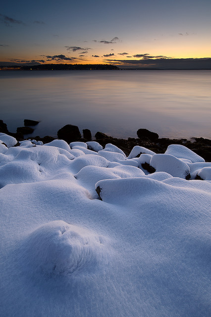 packlight-travelfar:  snow beach by Mike Hornblade on Flickr.
