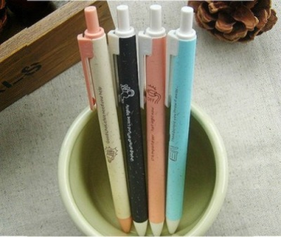 EcoTalk Click Pens Designs(From left): Cream | Black | Pastel Pink | Sky Blue Type: Clickety Gel Ink Pens Length: 14cm Black Ink: Black | Pastel Pink Blue Ink: Blue | Cream 0.5mm tip (Tip feels slightly smaller than conventional 0.5mm tips) Lovely, lovely colours on the pen body. Comes with various eco-friendly reminders written on it  SGD$1.80 each  Detail: