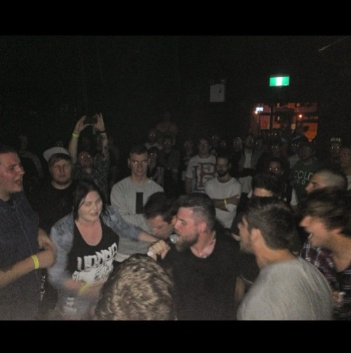 whitexlight:  A shot of Davey in the pit during please stay. This band has had such an impact on my life finally seeing them live is the biggest highlight of my life so far!  Thank you. It was our pleasure:D