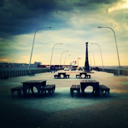"""Storms-A-Brewin"" #StrangeClouds #Pier #AmericanVeteransMemorialPier #Brooklyn #BayRidge #Waterfront #NYPD #NYC #NewYorkCity #NewYork #abrooklynsoul #brooklynpoets #Monument #Benches #Sky #made_in_ny #explore_brooklyn #explore_community #explore_nyc #UrbanLandscape #UrbanDwellings  (at American Veterans Memorial Pier)"
