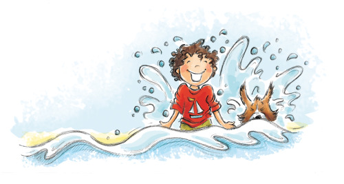 Swim! Illustration Friday.(from  '1,2,3 by the Sea' Kane Miller 2013)