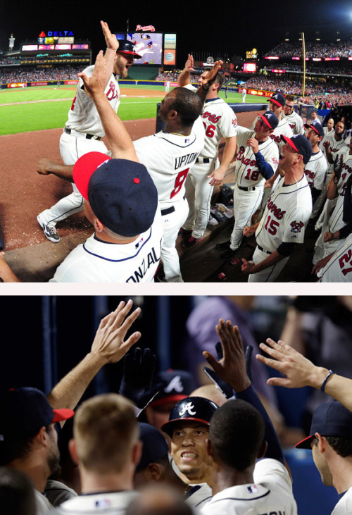 atlantabraves:  REBLOG if you're still celebrating last night's back-to-back bombs and win over the Dodgers!