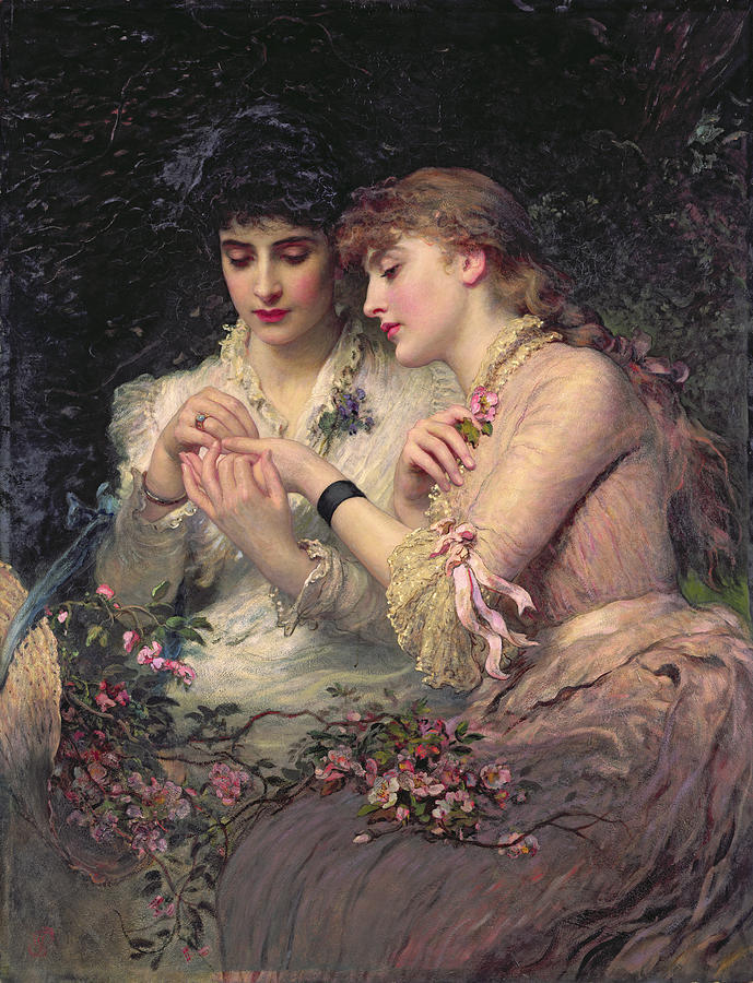 fleurdulys:  A Thorn Amidst the Roses - James Sant 1887