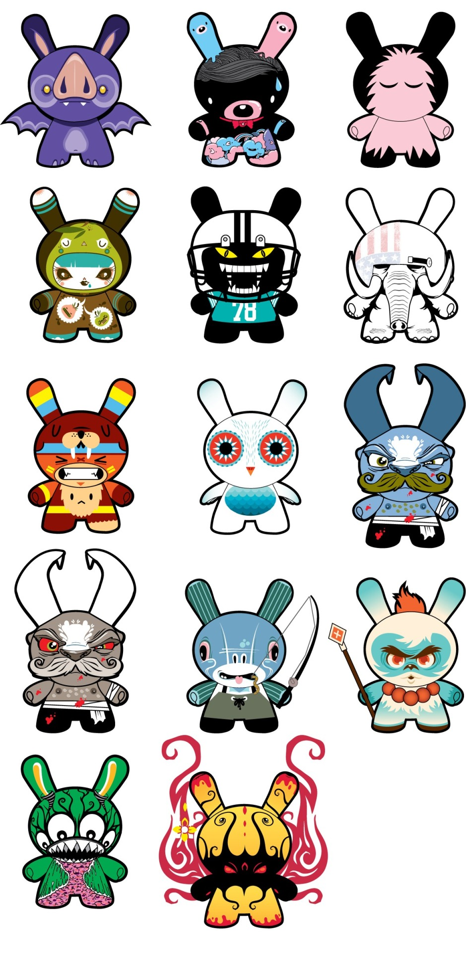 Dunny 2013 Lineup Leaked Just like last year, the Dunny 2013 series has leaked onto the Internet. This year's artists feature Andrew Bell, Nathan Jurevicius, and Scott Tolleson among others. There's one chase figure that hasn't been leaked (yet). Via Vinyl Pulse | Image via Dunny Addicts Check it: More Dunny posts on Albotas Buy: Dunny 2012 Blind Box