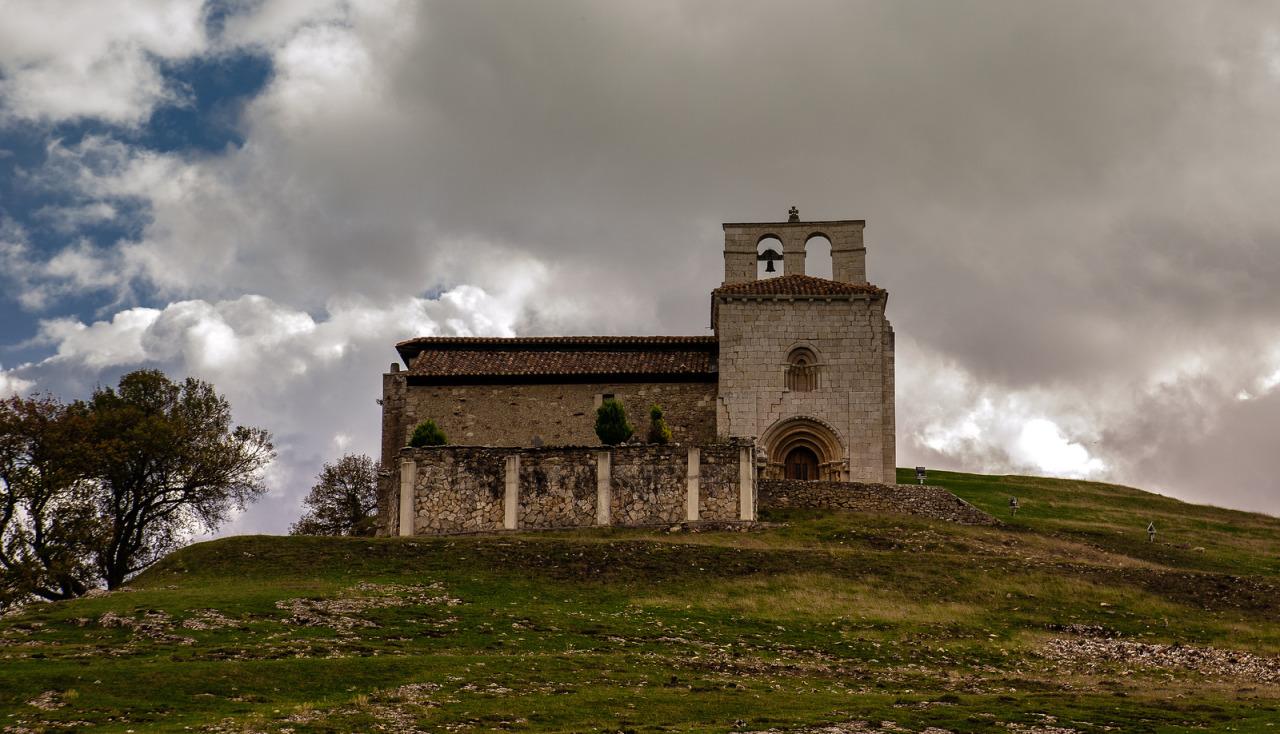 San Pantaleon de la Losa Church, Burgos, Castile and Leon, Spain. VIA.