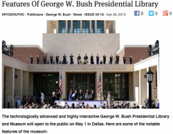 theonion:   Features Of George W. Bush Presidential Library:Full Report  I want to work on museum projects like this.