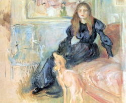 masterpiecedaily:  Berthe Morisot Julie Manet and Her Greyhound Laertes 1893