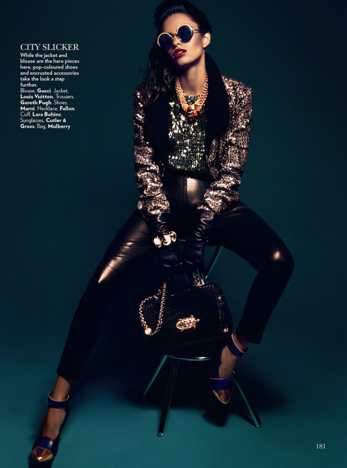 Lakshmi Menon in HIGH GLOSS by Kevin Sinclair for Vogue India February 2013