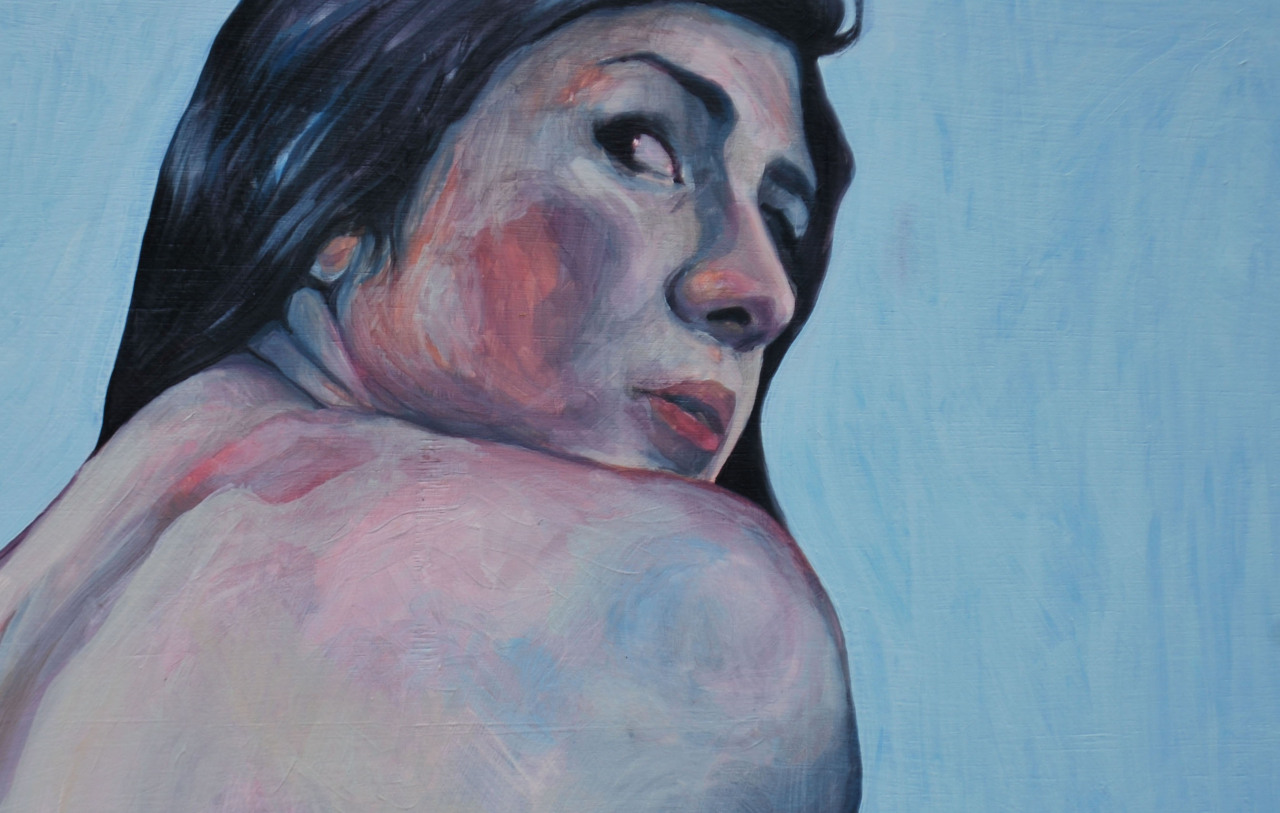 We Were Small Fish To Our Predators (detail)Naomi Nakazato 35 in. x 46 in.Oil on Panel