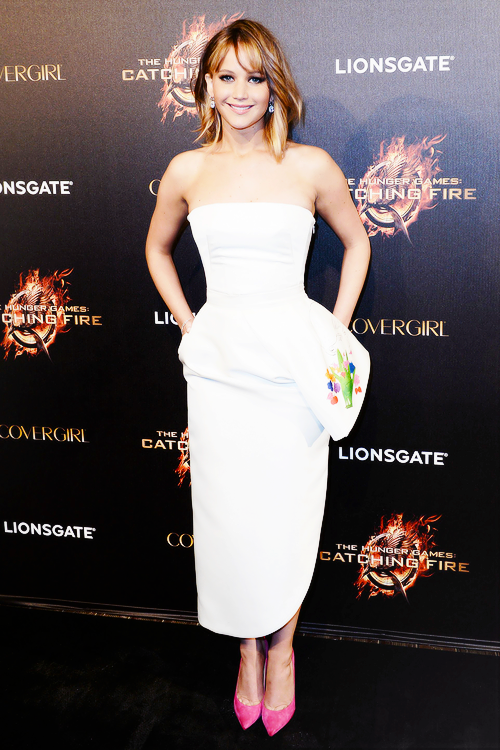 Jennifer Lawrence arriving at the Cannes Film Festival Catching Fire party